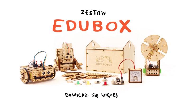 LOFI Robot EDUBOX - zest edukacyjny do nauki robotyki i konstruowania robotów