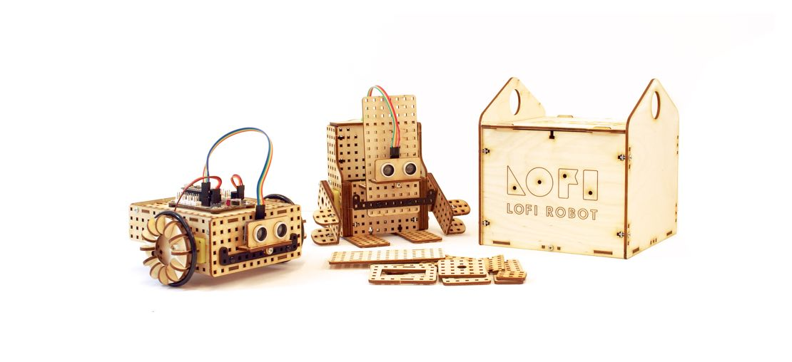 LOFI Robot EDUBOX mini wooden robot construction kit