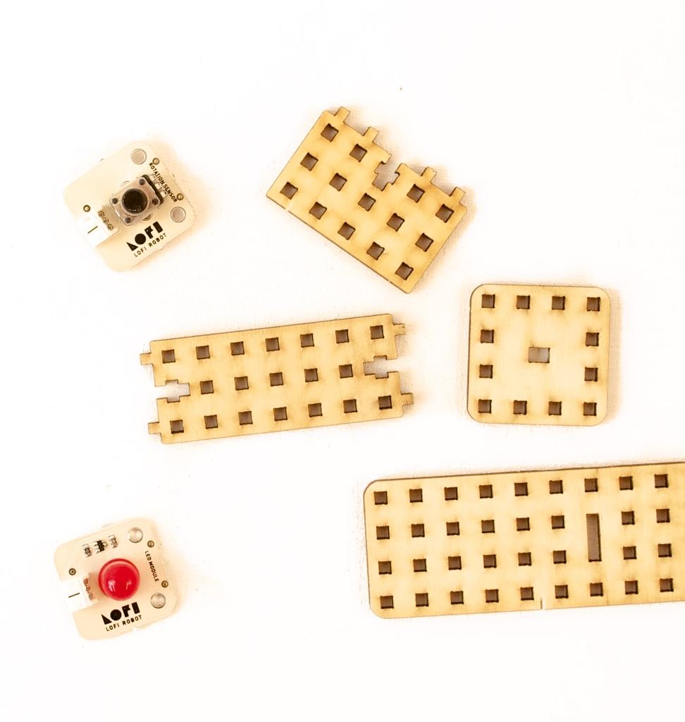 LOFI Brain moduły elektroniczne arduino czujniki światła odległości przycisk potencjometr