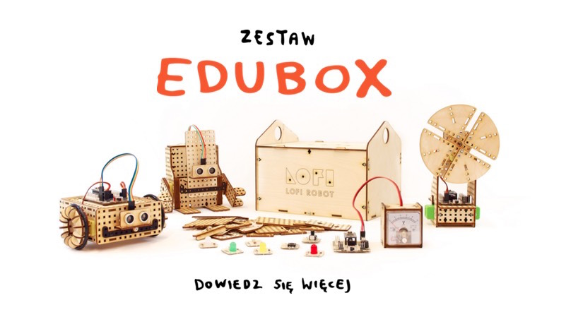 LOFI Robot EDUBOX - zest edukacyjny donauki robotyki ikonstruowania robotów