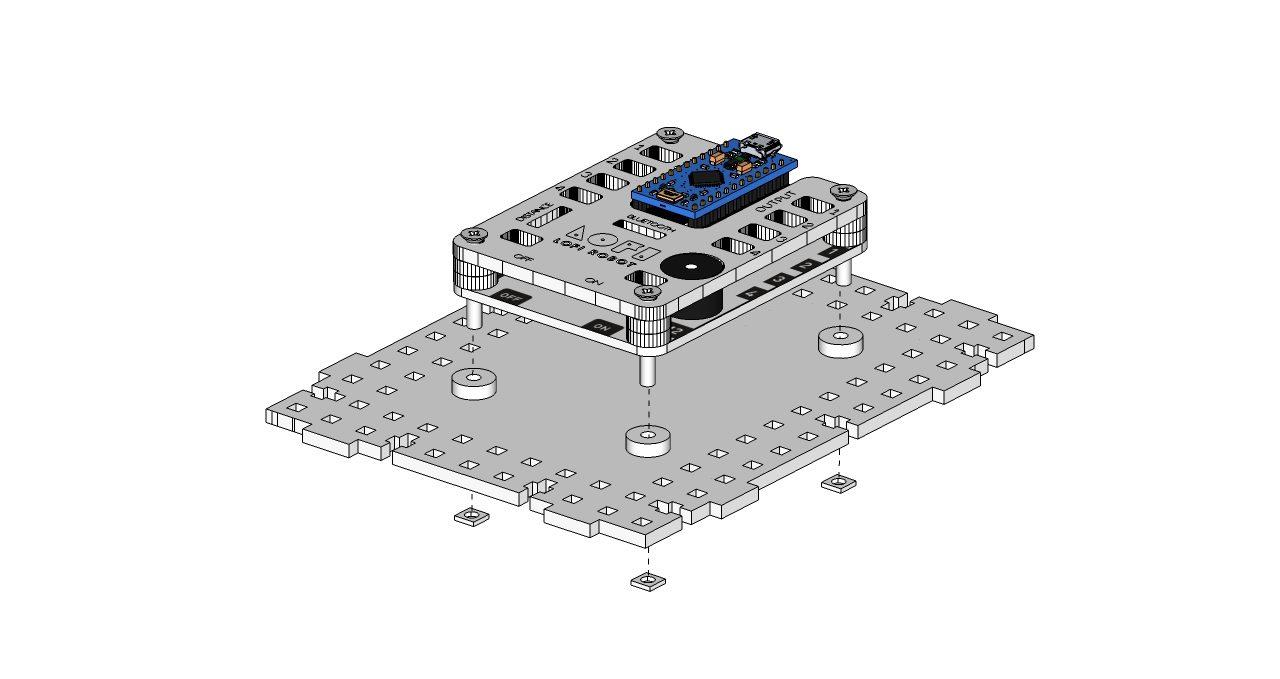 LOFI Brain montaż na korpusie pojazduą