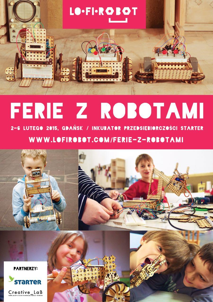 Ferie z robotami - plakat
