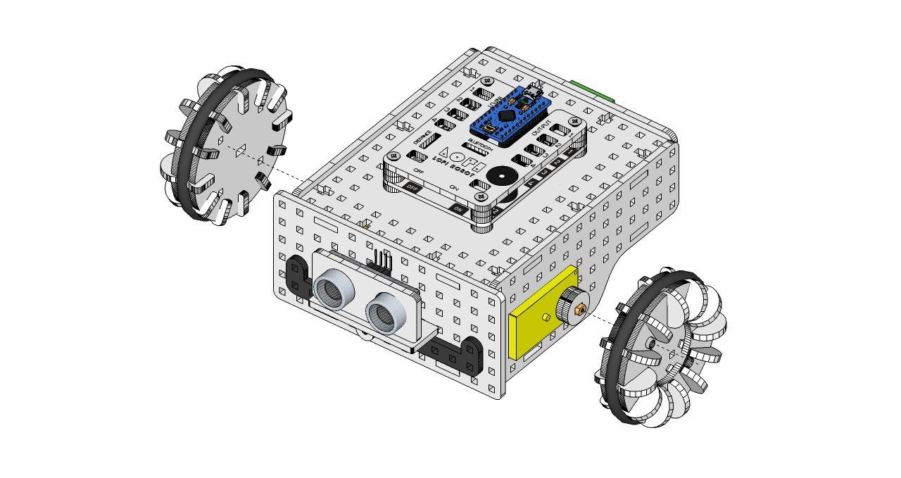 Robot pojazd montaż kół