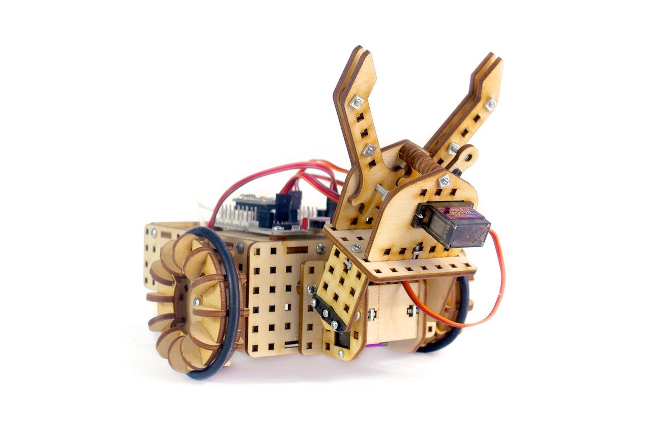 robot pojazd z chwytakiem