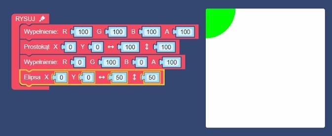lofi blocks rysowanie elipsa
